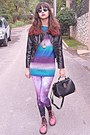 Light-purple-galaxy-romwe-leggings-bubble-gum-oasap-boots
