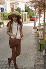 Burnt-orange-bag-camel-h-m-hat-camel-stradivarius-blazer