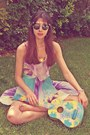 Amethyst-sugarlips-dress-aquamarine-sugarlips-dress-romwe-sunglasses