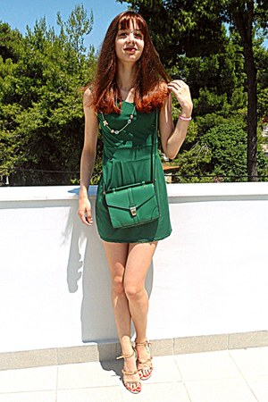 green Accessorize bag - green Ebay dress - neutral Zara sandals