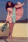 Light-pink-romwe-coat-aquamarine-striped-lulus-dress-light-pink-tights