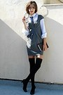 Black-knee-high-socks-heather-gray-stradivarius-dress-navy-tie
