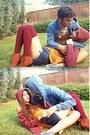 Tawny-h-m-boots-maroon-forever-21-socks-maroon-gap-hoodie-blue-hoodie