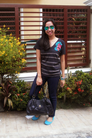 black Secosana bag - navy Forever 21 jeans