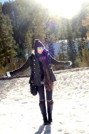 Forever 21 coat - vintage scarf - Target hat - Knockaround sunglasses - Forever