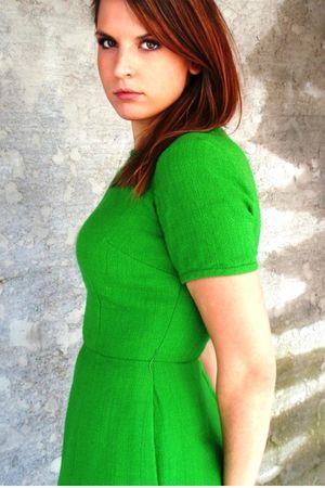green Mind Over Matter by Stephanie Geisler dress - brown boots