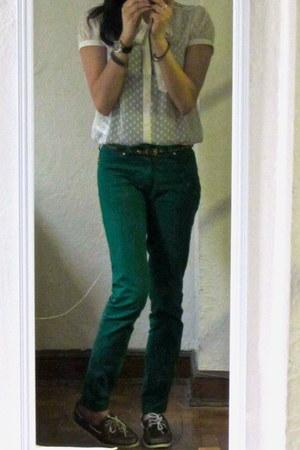 Sperrys shoes - Zara jeans - H&M blouse