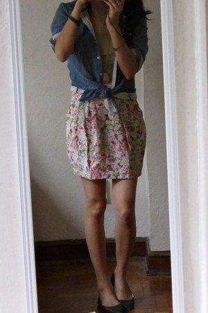 Forever 21 skirt - H&M top - Urban Outfitters flats