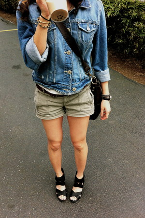 American Eagle jacket - Mango shorts - Target wedges