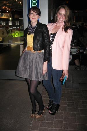 pink vintage blazer - black Urban Outfitters shirt - pink vintage tie