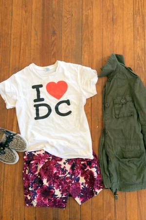 Sreet Vendor t-shirt - asos jacket - asos skirt - Sperry Top Sider sneakers