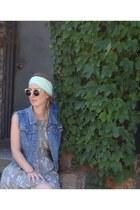 Something Else dress - community scarf - Super sunglasses - thrifted vest