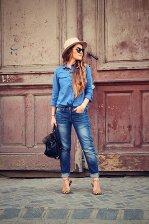 blue Gap jeans - blue reserved shirt