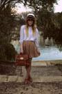 Sportsgirl-hat-tempt-bag-sportsgirl-flats-thrifted-blouse-dotti-skirt