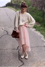 Thrifted-bag-valleygirl-skirt-thrifted-jumper-marie-claire-flats