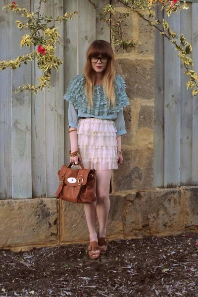 Tempt bag - Forever New skirt - romwe blouse