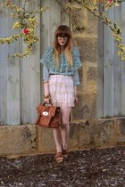 Tempt bag - Forever New skirt - romwe blouse