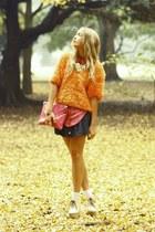 orange thrifted vintage jumper - cream doc martens Chloe shoes