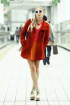 Forever 21 coat - doc martens Chloe shoes - from japan socks