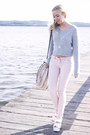 Light-pink-lace-up-asos-jeans-brick-red-woven-bath-mat-diy-bag-silver-croppe