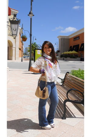 Zara bag - f21 blouse - Gift-Iraq scarf