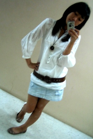 Promod blouse - Zara skirt - Zara shoes - Promod accessories