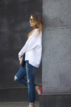pull&bear jeans - etam jacket - DIY bag - Bershka heels
