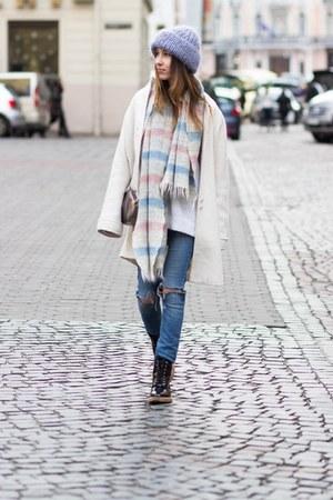 Zara boots - Zara jeans - DIY hat