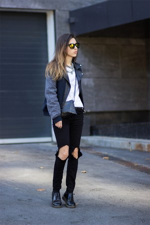 mars at venus jacket - Bershka jacket - Dr Martens shoes - Zara jeans - Zara bag