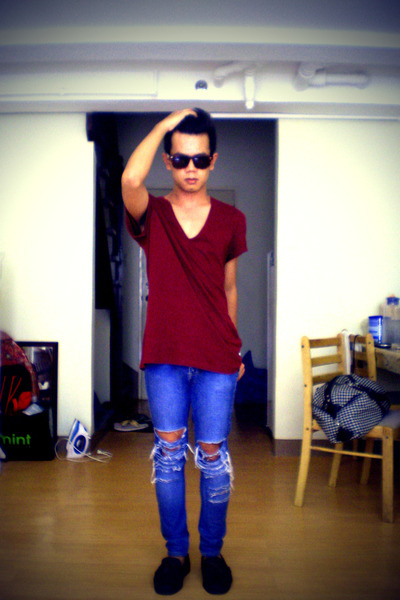 Topman shirt - jeans - Swatch shoes - glasses