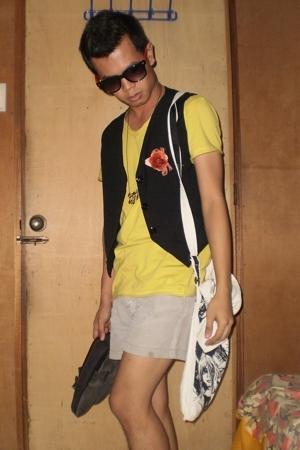 custom made vest - Folded&Hung shirt - Club Roman shorts - Malmo accessories - D