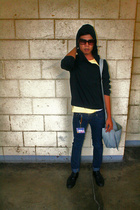 Lord and Taylor sweater - glasses - John Brian t-shirt - bench jeans - shoes - D
