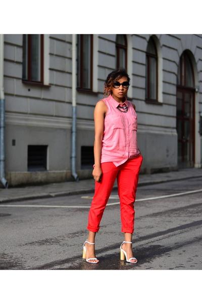 H&M shirt - H&M pants - nellyse heels