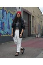 black GINA TRICOT jacket - ivory Monki pants