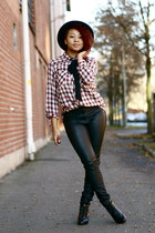 maroon GINA TRICOT blouse - black H&M pants
