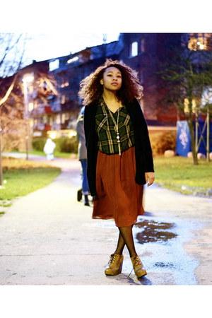 H&M skirt - Bik Bok cardigan - GINA TRICOT blouse
