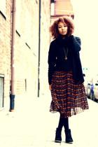 tawny romwe dress - black H&M jumper