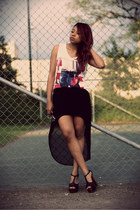 GINA TRICOT skirt - H&M vest - Nelly heels