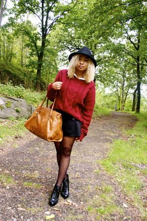 GINA TRICOT jumper - Stradivarius hat - H&M skirt
