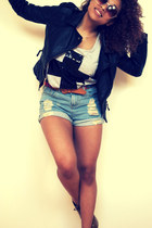 Sheinside jacket - OASAP shorts