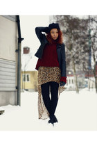 Sheinside jacket - Jeffrey Campbell shoes - GINA TRICOT sweater - H&M skirt