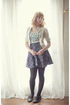 diy cardigan cardigan - skirt - ruffle top top - t strap flats flats