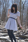 Blue-urban-outfitters-dress-blue-stockings-brown-shoes