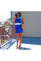 blue Forever 21 dress - mustard asoscom bag - camel Steve Madden pumps