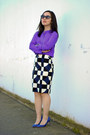 Cat-eye-joe-fresh-sunglasses-blue-suede-jcrew-pumps-navy-pencil-jcrew-skirt