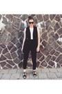 Black-forever-21-blazer-black-long-bodysuit-asos-bodysuit