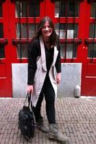 H&M jeans - leather gestuz jacket - H&M Trend blouse
