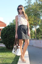 blue Bijou Brigitte ring - brown Aldo purse - navy Zara skirt
