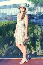 tan H&M hat - beige H&M dress - dark brown Icing sunglasses