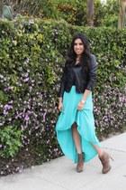jacket - boots - skirt